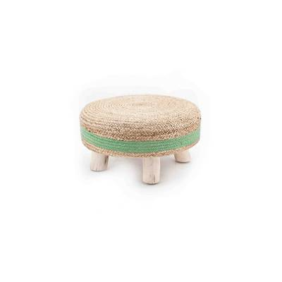 By-Boo Stool Jute Green 60x60