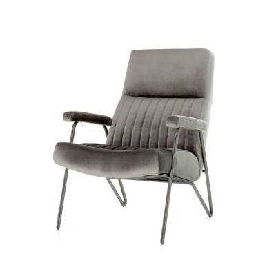 Fauteuil William - grijs velvet
