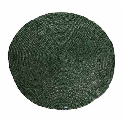 By-Boo Carpet Jute round - green