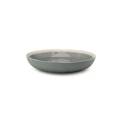 VTwonen Serveerbord Crackle Finish Grey 25cm