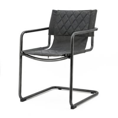 Chair Lester - anthracite vintage leather