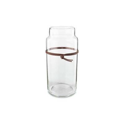 Vase Clear Class Leather Strap 20cm