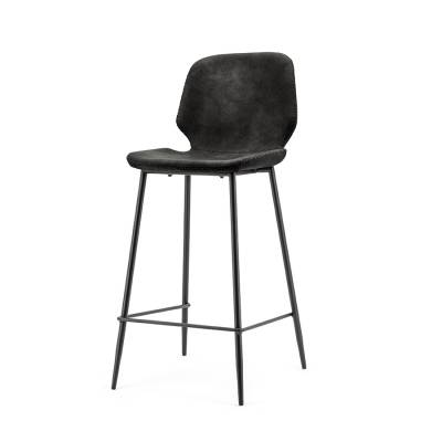 By-Boo Bar chair Seashell low - black