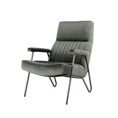 Fauteuil William - groen velvet