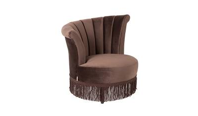 Dutchbone Fauteuil Flair Dark Brown
