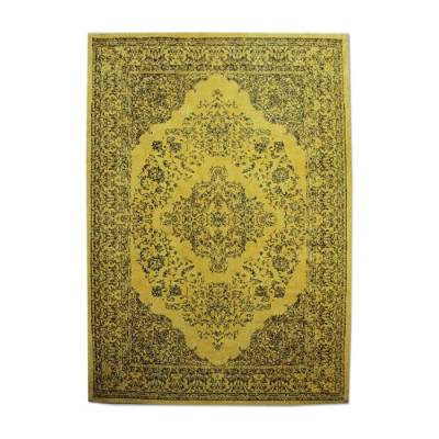 Carpet Medallion 170x240cm Yellow