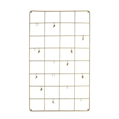 Madam Stoltz Memoboard Wire Gold Large