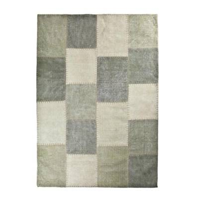 By-Boo Vloerkleed Patchwork Mono Green 200x290