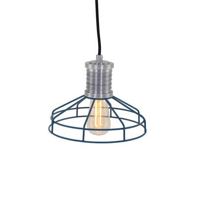 Anne Hanglamp Wire-O Blauw