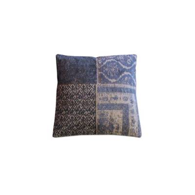 Pillow Patchwork Dark Blue