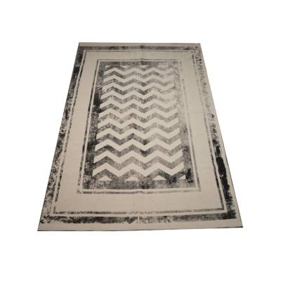 Vloerkleed Chevron Wool Grey 120x180
