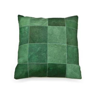By-Boo Kussen Patchwork Leather Green