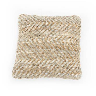By-Boo Kussen Sisal Leather Naturel Small