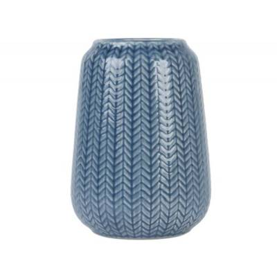 Present Time Vaas Knitted Donkerblauw Medium
