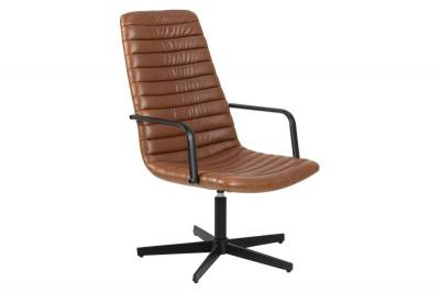 Lounge chair Dave brandy met arm