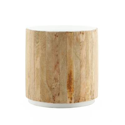 By-Boo Bijzettafel Tub Light Wit