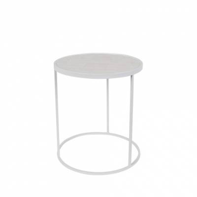 Zuiver Sidetable Glazed - White