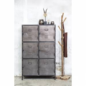 Locker New Vintage 6-deurs Metal