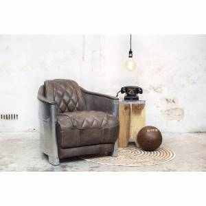 Fauteuil Aviator Champagne Grey