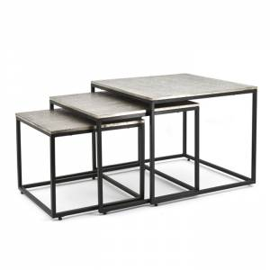 Coffeetable set Trapeze vierkant