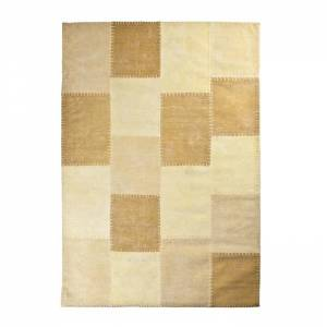 By-Boo Vloerkleed Patchwork Mono Yellow 200x290