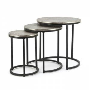 Coffeetable set Trapeze round