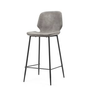 By-Boo Bar chair Seashell low - grey