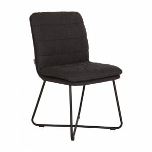 D-Bodhi Side chair Stripe - Charcoal