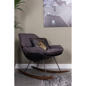White Label Living Lounge Chair Rocky Dark