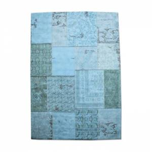By-Boo Carpet Patchwork Turquoise 200x300