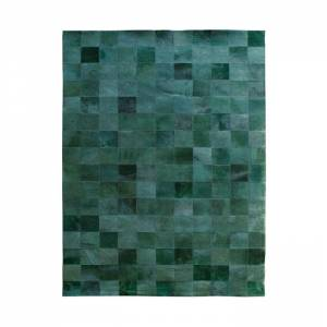 By-Boo Vloerkleed Patchwork Leather Green