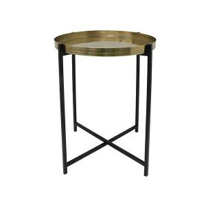 Brass/black side table M HKLiving